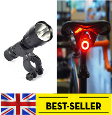 front powerful C8 + rear egg led rechargeable lights set kit - flash bike light