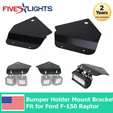 "3"" Cube LED Work Light Bumper Metal Mounting Brackets For 10-14 Ford Raptor F150"