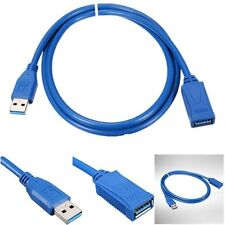 USB 3.0 Type A to A Extension Cable Extn FAST USB3 Male / Female Lead Blue color