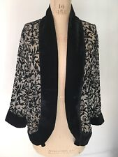 Dreamkeeper Devore Sheer Jacket With Beading And Velvet Size S/M New With Tags
