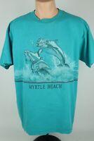 Vintage Myrtle Beach Adult XL Dolphin Graphic Single Stitch Short Sleeve T Shirt