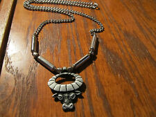 Lot of 25 Pewter And Chrome Rams Head Necklace 18 Inches