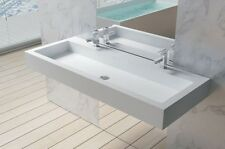 Wall Hung Solid Surface Stone Resin Glossy Bathroom Sink 60 x 21 - DW-197