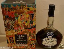 alcool ARMAGNAC Vieille Fine V.S.O.P. Gelas ancienne bouteille avec boite 1960