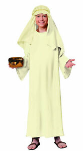 Kids Wise Man Costume Ivory Robe Biblical Character Child Size Large 12-14