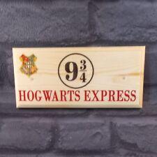 Hogwarts Express Sign, Harry Potter Inspired Bedroom Door Plaque Gift Home 391