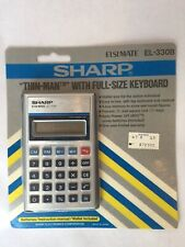 Vintage Sharp Calculator  El-330B Full Size Keyboard New Old Stock