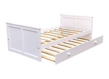 Brand New Americas Kids Day Bed Twin Size & Trundle White Finish Solid Pine Wood