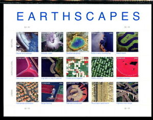 US 4710, 2012 (45c) EARTHSCAPES, $8.25 PANE OF 15, MNH (US1147)