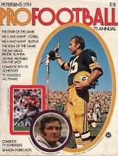 1971 Petersen's Pro Football Annual magazine Bart Starr Green Bay Packers ~ Good