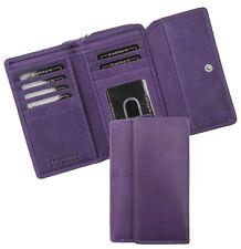 Alva Ladies Large Soft Purple Leather Purse Large Purple Purse - NEW