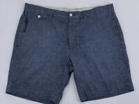 Polo Ralph Lauren Blue Chambray Straight Button Up Cotton Shorts Size 38 NWOT