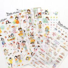 6pcs Sweet Girls Diary Sticker Kawaii Stationery DIY Scrapbooking Diary Stickers