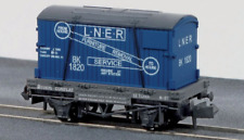 Peco N Gauge NR-23 - Conflat Container wagon - LNER Furniture Removals
