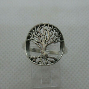 Solid 925 Sterling Silver Tree of Life Ring