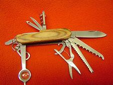 Taschenmesser, 16 in 1-Multifunktions-Taschenmesser aus Edelstahl mit Holzgriff