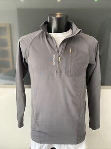 Reebok 1/4 Zip In Grey Size S/ch