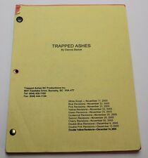 TRAPPED ASHES * 2005 CULT Movie Script * HORROR FILM ON A HOLLYWOOD STUDIO TOUR