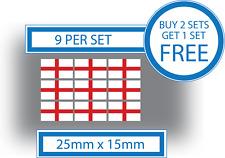9 X Banderas inglés casco bici pequeña ventana de coche pegatinas de vinilo Calcomanías De Inglaterra