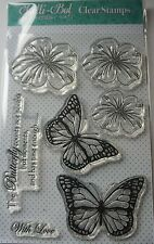 Lelli-Bot Crafts ~ Radiant Butterflies ~ A6 Clear Acrylic Stamps Set