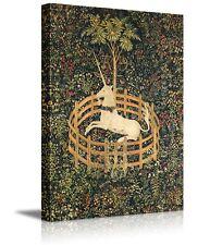 "The Unicorn in Captivity - Canvas Print Wall Art F- 24"" x 36"""