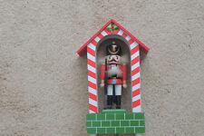GATE  house NUTCRACKER w/ wind  MUSIC BOX -  vintage silent night 10.5 x 5 inch