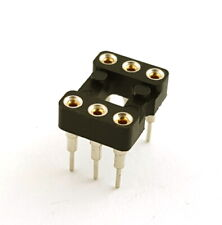 6 Pin Machine IC Sockets Elevated Long Pin Mill-Max (50 pieces)