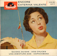 "CATERINA VALENTE - Encore (RARE 1960 SPANISH SUNG VINYL EP 7"" 45)"