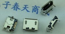 5 Pcs Micro USB Female Socket  5-Pin SMD PCB Mount jack Ox horn Four leg plate