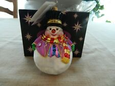 Christopher Radko Chills Wills Snowsman Christmas Ornament 14-2
