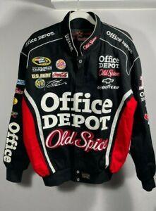 Tony Stewart Office Depot Old Spice Nascar Mens Jacket No. 14 Size S JH Design