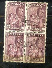 Malaya Malaysia 1961 Selangor 10c Block 4