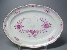 (G2890) Ovale Meissen Fleischplatte, Indisch purpur, Goldrand, Länge 30 cm