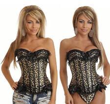 Sexy Lingerie Leopard Print corset Bustiers - Size M to 6XL PLUS