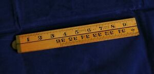 Vintage Sybren Boxwood Folding Ruler Rule No 73 Tool 36 Inches 3 Foot 90cm