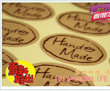 60pcs Hand Made Stickers Kraft Vintage Label Lolly Cello Gift Bag PartySeal #CLR