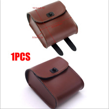 Motorcycles Bike Front Handlebar Side Luggage Saddle Bag Brown Synthetic Leather
