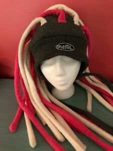 Fleece Ski Snowboard Winter Hat Mental Headgear Dreadlocks Pink White Gray NICE!