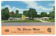 Baton Rouge LA The Shades Motel Postcard ~ Louisiana