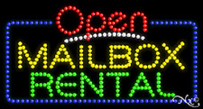 "New ""Open Mailbox Rental"" 32x17 Solid/Animated Led Sign W/Custom Options 25534"