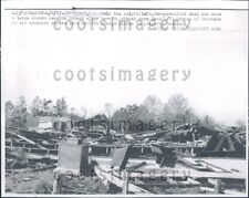 1957 Tornado Flattened Church Pulpit Standing Jefferson S Carolina Press Photo