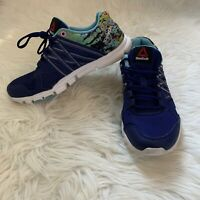 Reebok Womens Size 7.5 Shoe Your Flex Microweb Sneaker Athletic Blue Multi Color