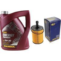 Ölwechsel Set 5L MANNOL Energy Premium 5W-30 + SCT Ölfilter Service 10164434