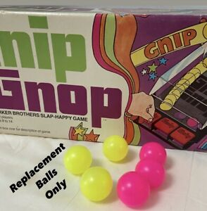 Lot of 6  1971 Parker Brothers Gnip Gnop Slap-Happy Game (6) Replacement Balls