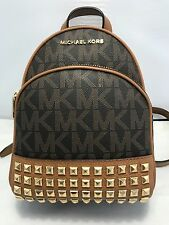 Michael Kors Abbey Signature Pyramid Stud XS MINI Backpack & Crossbody Bag Brown