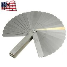 32 Blades Feeler Gauge Imperial & Metric Guitar String Height Measuring Tools US