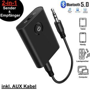 Bluetooth 5.0 Musik Stereo Sender Adapter Receiver Audio Transmitter Empfänger