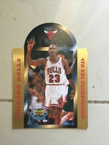 1996 Upper Deck Authenticated Michael Jordan Bulls 4th Championship Jumbo /25000