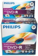 100-Pak =PHILIPS= Mini DVD-R w/ Logo-top fits HITACHI/PANASONIC/SONY (5 x 20Pak)