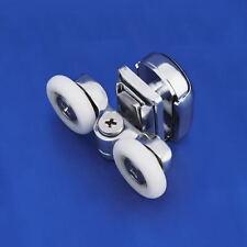 4 x Shower Door Rollers/Runners/Wheels Twin Top Rail Suit Quadrant Straight